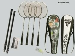 TALBOT-TORRO - 4-Fighter Set Telescopic Net - Zestaw do badmintona