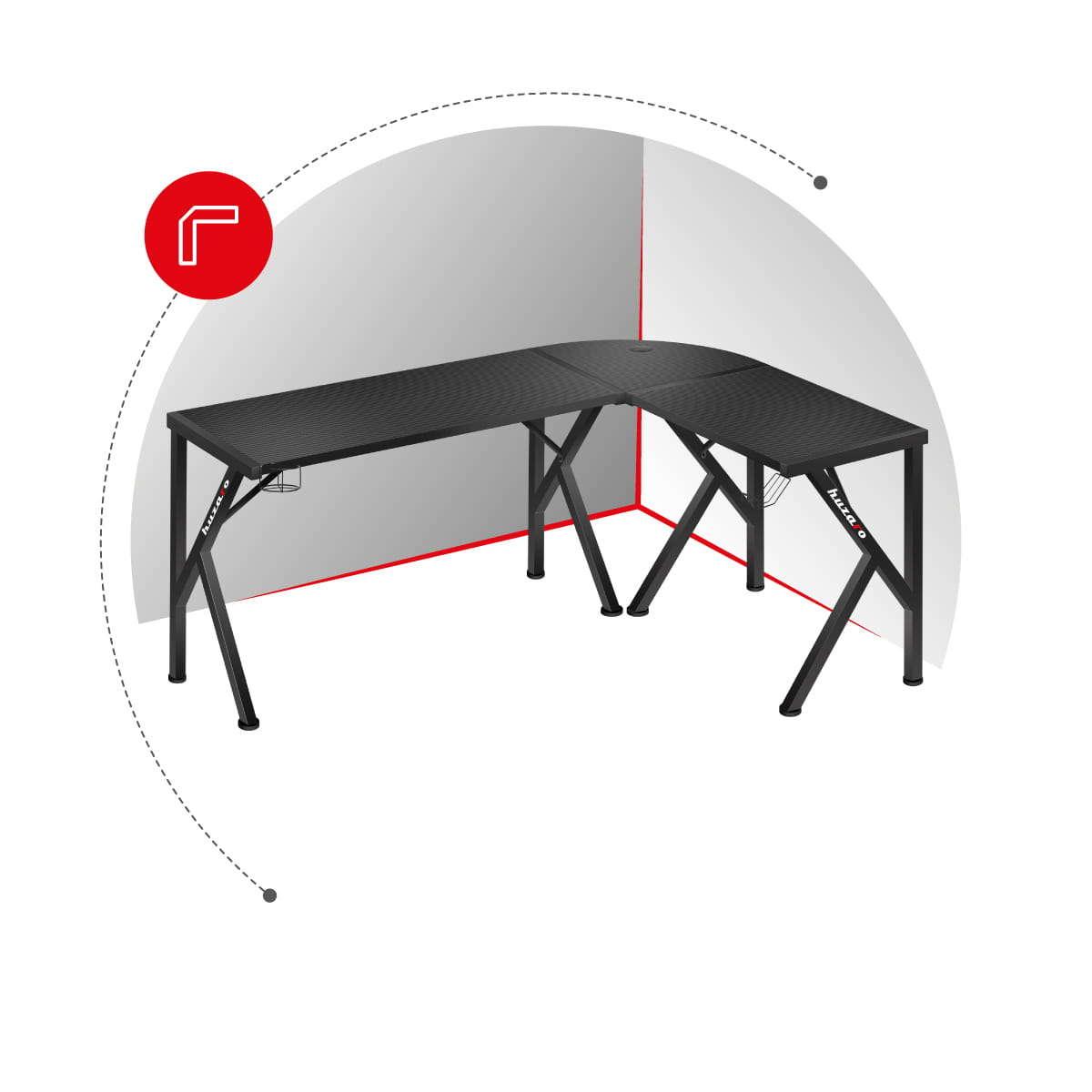 Hero 6.3 biurko narożnikowe