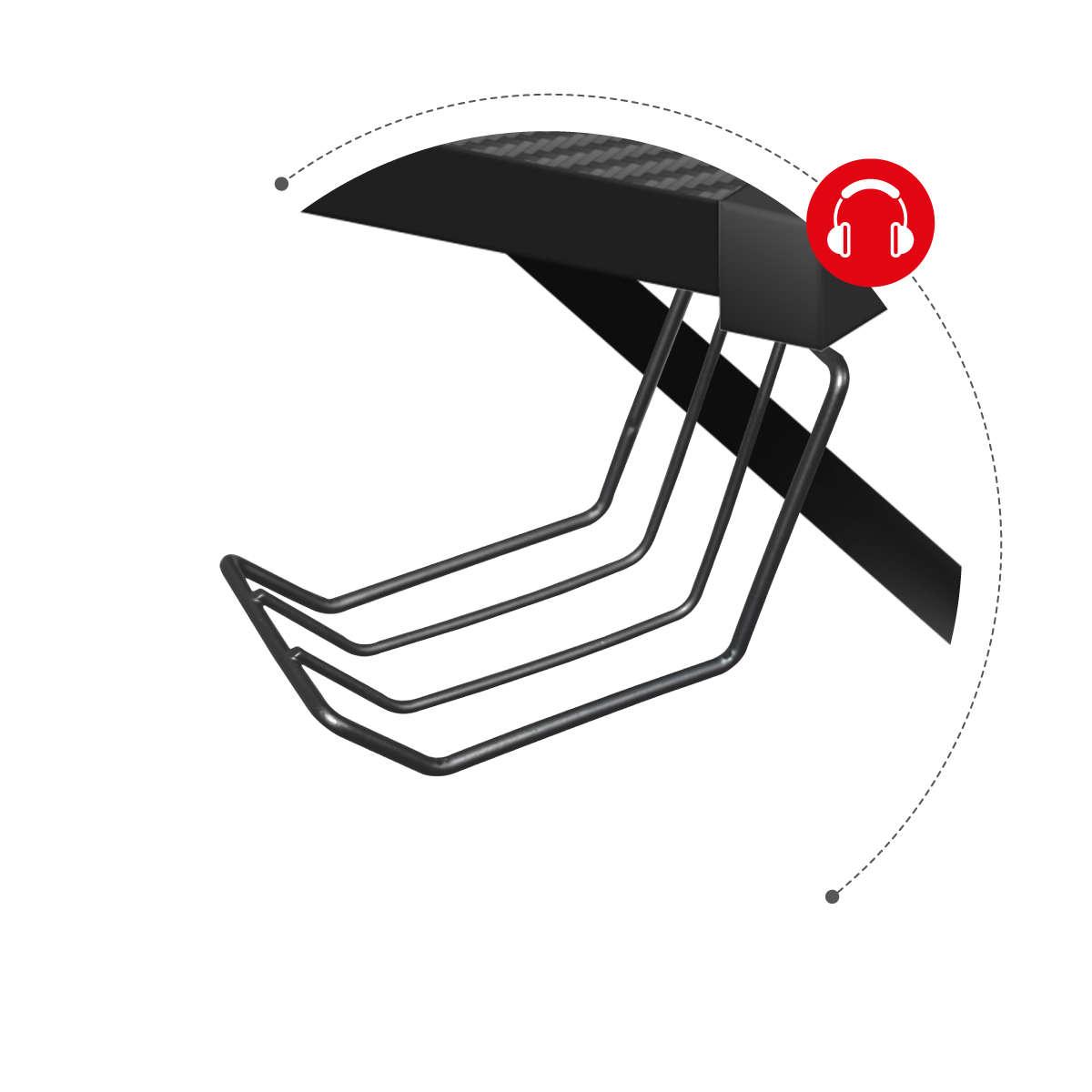 Huzaro Hero 6.3 uchwyt na słuchawki