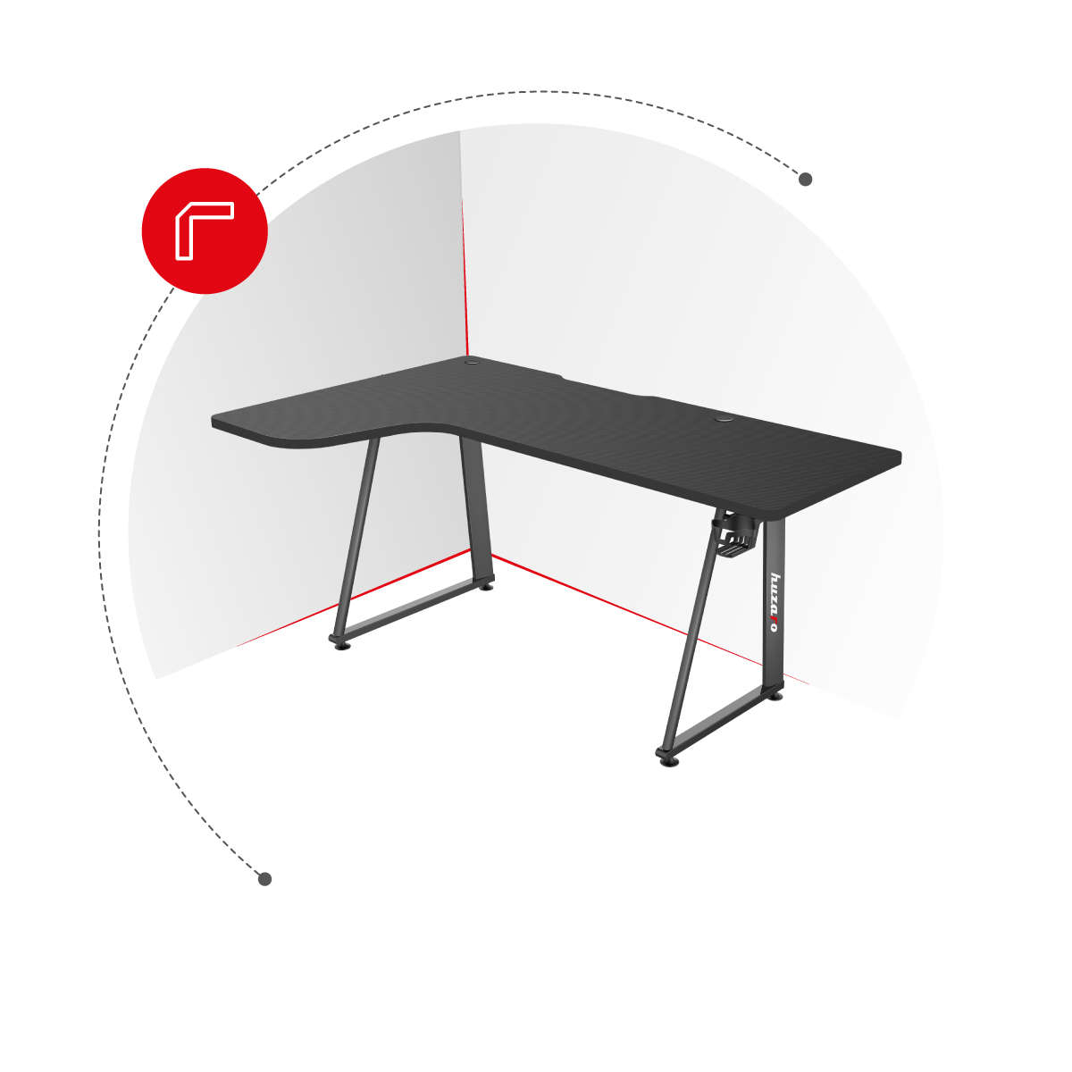 Hero 7.7 biurko narożnikowe