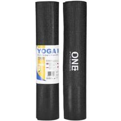 ONE FITNESS YM02 BLACK - 17-44-204 - Mata do jogi 173x61x0,6cm