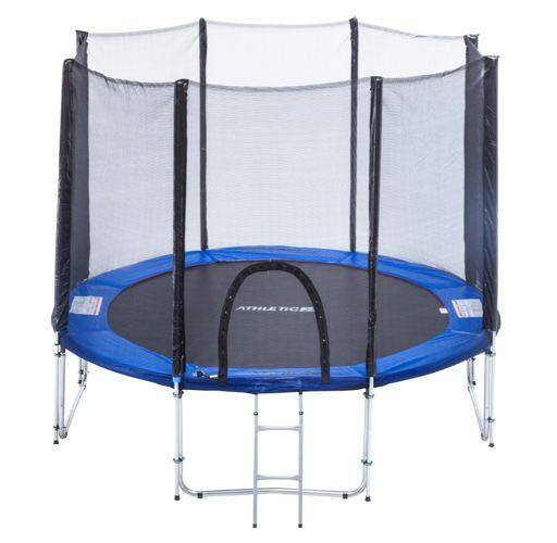 Rewelacyjny Trampolina ogrodowa ATHLETIC24 305 cm dla dzieci i dla dorosłych! CU67